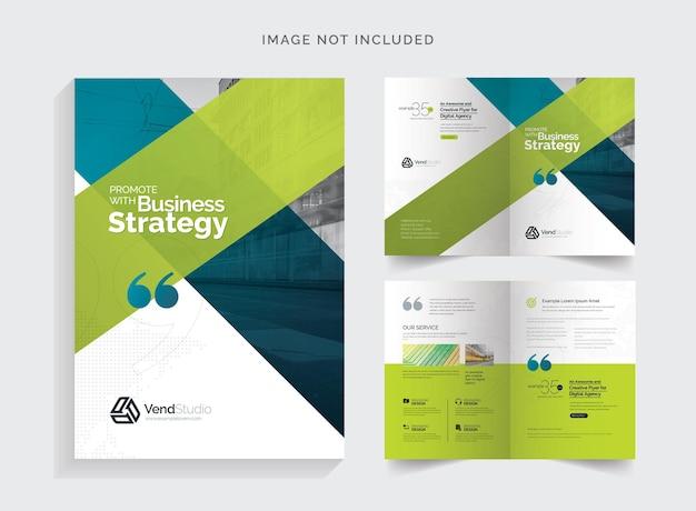 Creative clean bifold-broschüre
