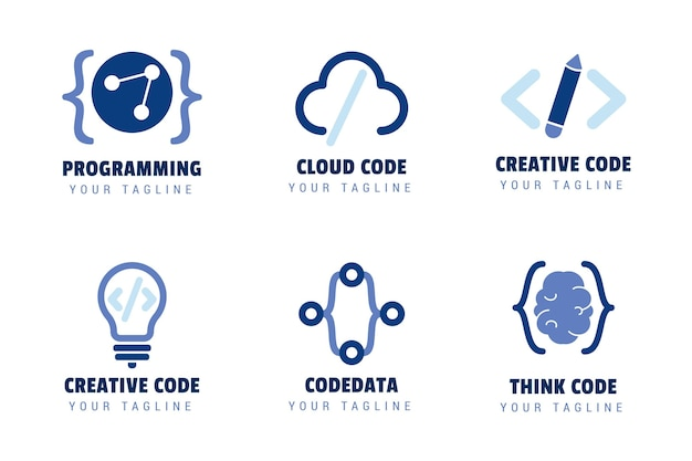 Creative code logo set