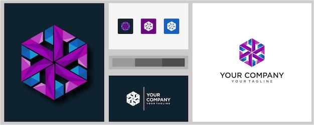 Creative community letter eine logo-designvorlage