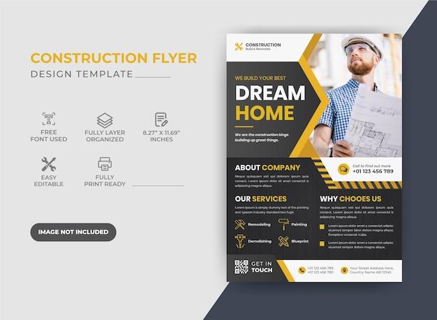 Creative elegance corporate construction flyer
