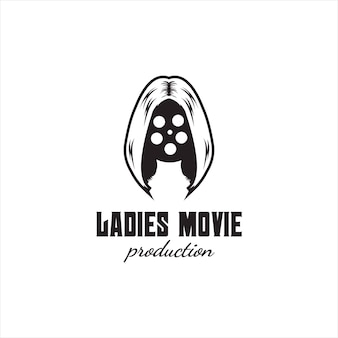 Creative film woman production logo-design