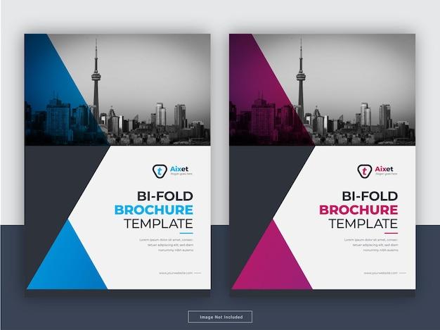 Creative flyer cover jahresbericht flyer vorlage