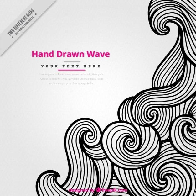 Creative hintergrund von hand gezeichnet wirbelnden