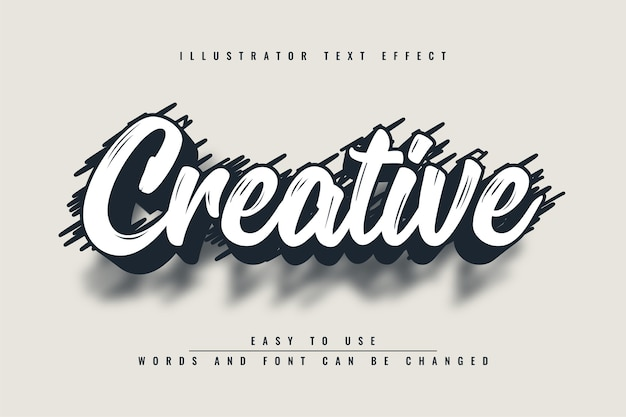 Creative - illustrator bearbeitbarer texteffekt