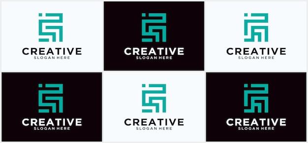 Creative logo monogramm s-technologie in quadratischer form, alphabet buchstabensymbol monogramm logo s, anfangsbuchstabe s quadratisches monogramm