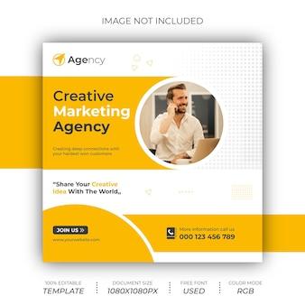 Creative marketing agentur post banner design05sra