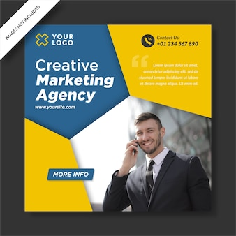 Creative media marketing instagram post banner social media design