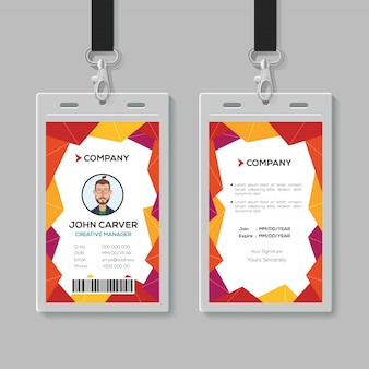 Creative office id-kartenvorlage