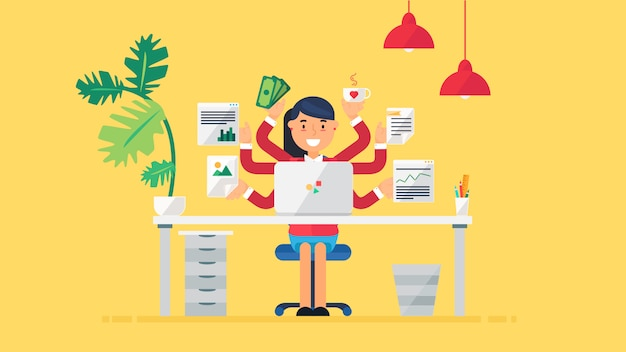 Creative tech-arbeitsbereich