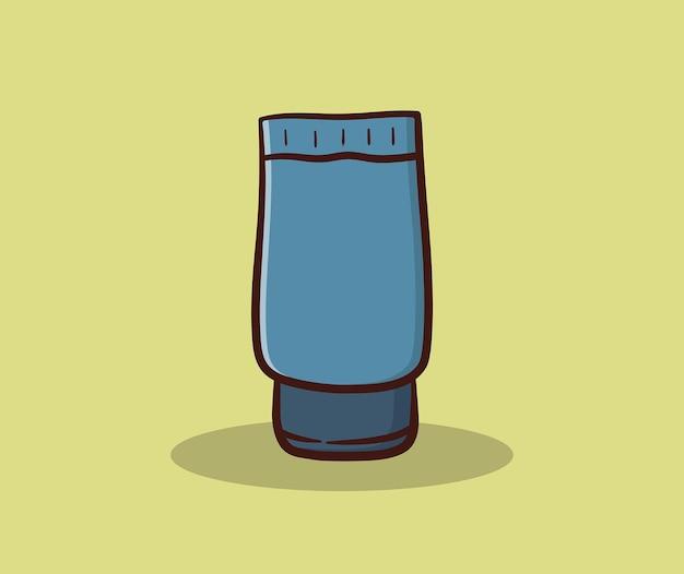 Creme tube handzeichnung illustration