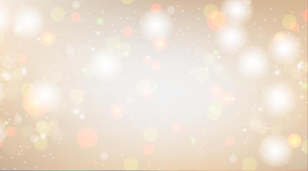 Cremefarbener hintergrund mit bokeh-lichteffekt
