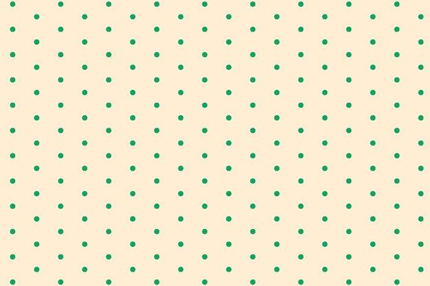 Cremefarbener hintergrund, tupfenmuster im niedlichen designvektor