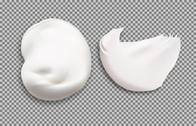 Cremetextur für kosmetische behälterillustration
