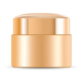 Cremetiegel für kosmetik. vektor-container-modell