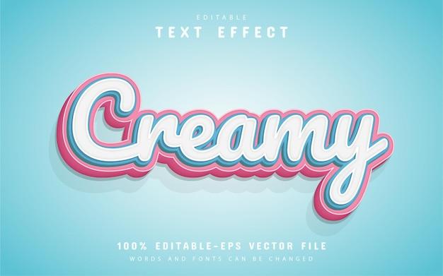 Cremiger text, bearbeitbarer texteffekt