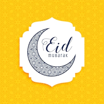 Cresent dekorative Eid Mubarak Mond Design