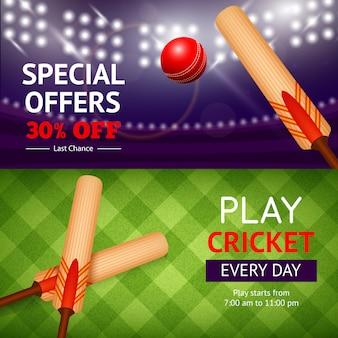 Cricket-banner-set
