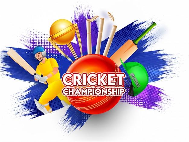 Cricket championship-konzept.