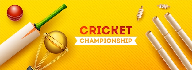 Cricket cup championship banner.