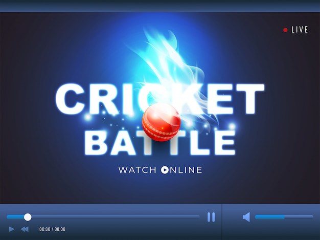 Cricket konzept hintergrund.