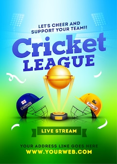 Cricket league zwischen zwei teams