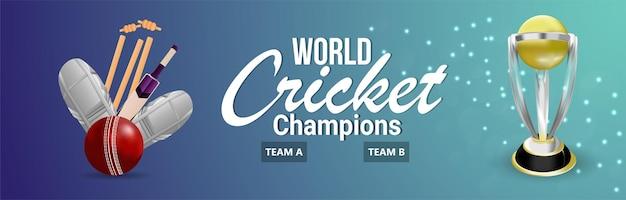 Cricket meisterschaft hintergrund oder banner