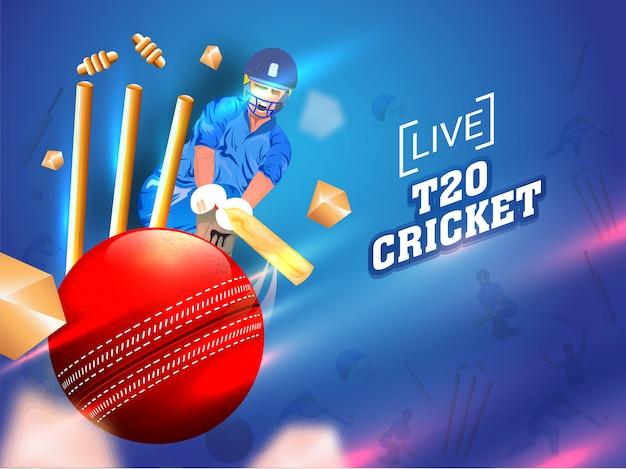 Cricket-spieler in aktion zu spielen
