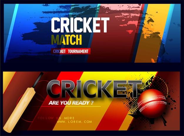 Cricket-spieler kreatives poster- oder bannerdesign mit hintergrund für cricket-meisterschaft