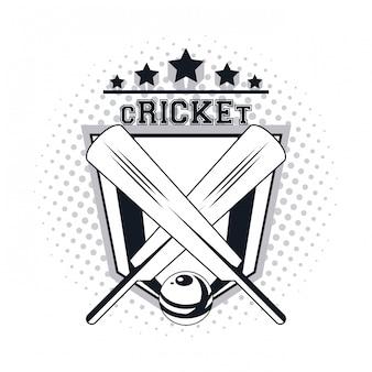 Cricket-spieler-symbol