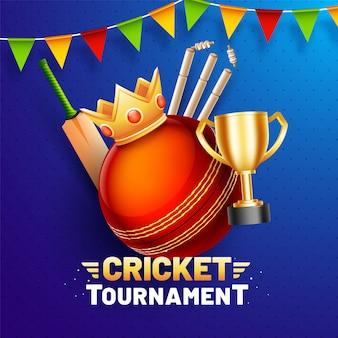 Cricket-turnierplakat