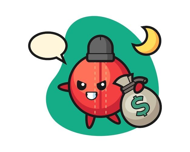 Cricketball-cartoon hat das geld gestohlen