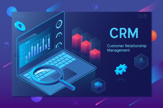 Crm-konzept für kundenbeziehungsmanagement