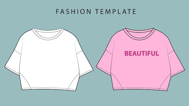 Crop top fashion flache skizzenvorlage top