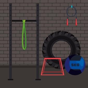 Crossfit fitnessraum