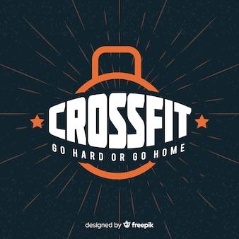 Crossfit motivations-schriftzug: geh hart oder geh nach hause