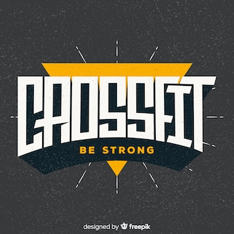 Crossfit motivlogo flaches design