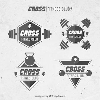 Crossfit schwarz-weiß-label-kollektion