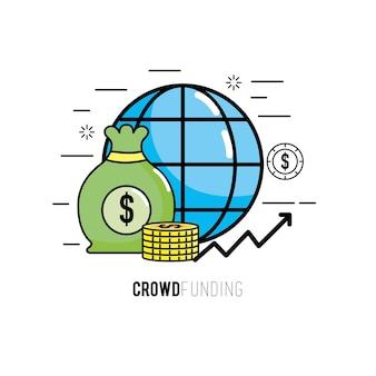 Crowdfunding-finanzprojekt zur ideenunterstützung
