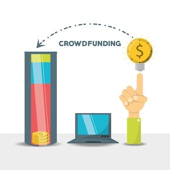 Crowdfunding-geschäft finanzielle unterstützung von unternehmen