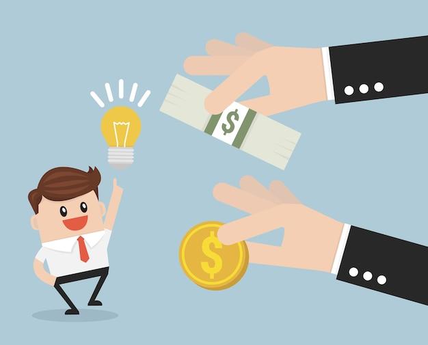 Crowdfunding investoren konzept.