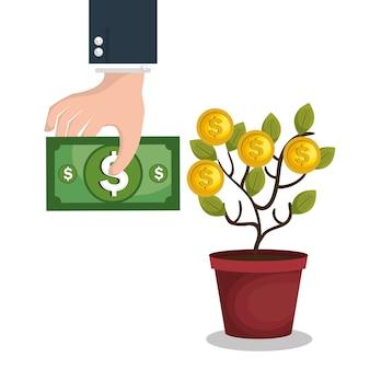 Crowdfunding-konzept-symbol