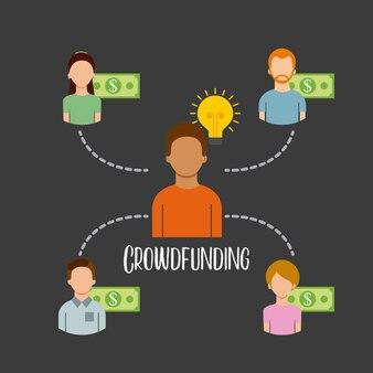 Crowdfunding-leute sponsern kapitalgeld