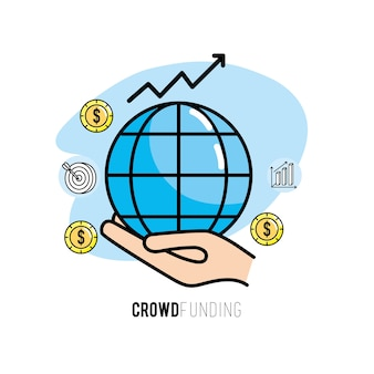 Crowdfunding-projekt-support-business-service