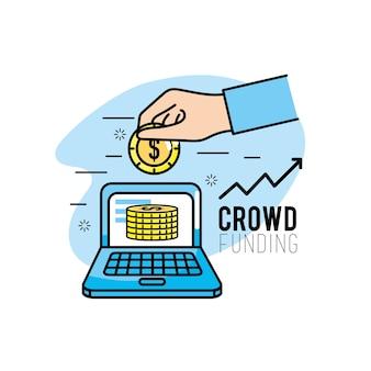 Crowdfunding-projekt-support-business-service