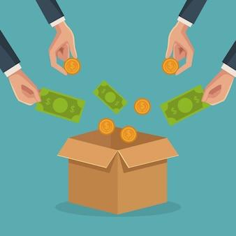Crowfunding und geschäft