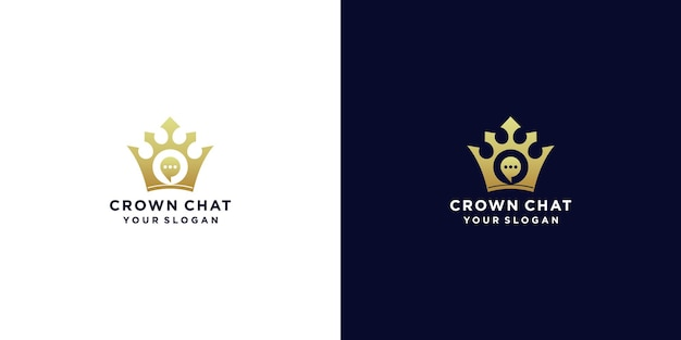 Crown chat logo design