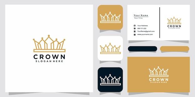 Crown logo-vorlagen und visitenkarten-design
