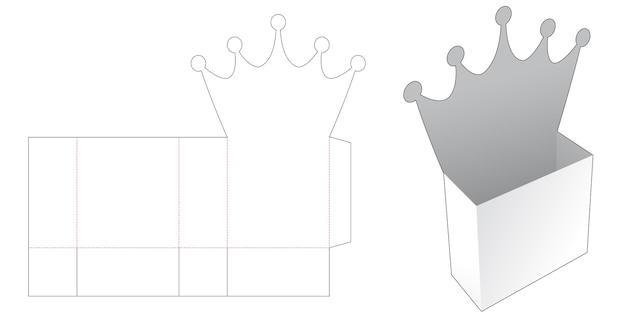 Crown snackdose mit stanzschablone