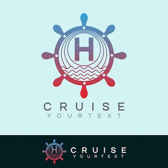 Cruise anfangsbuchstabe h logo design