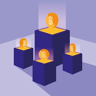 Crypto-mining-bitcoin-symbole